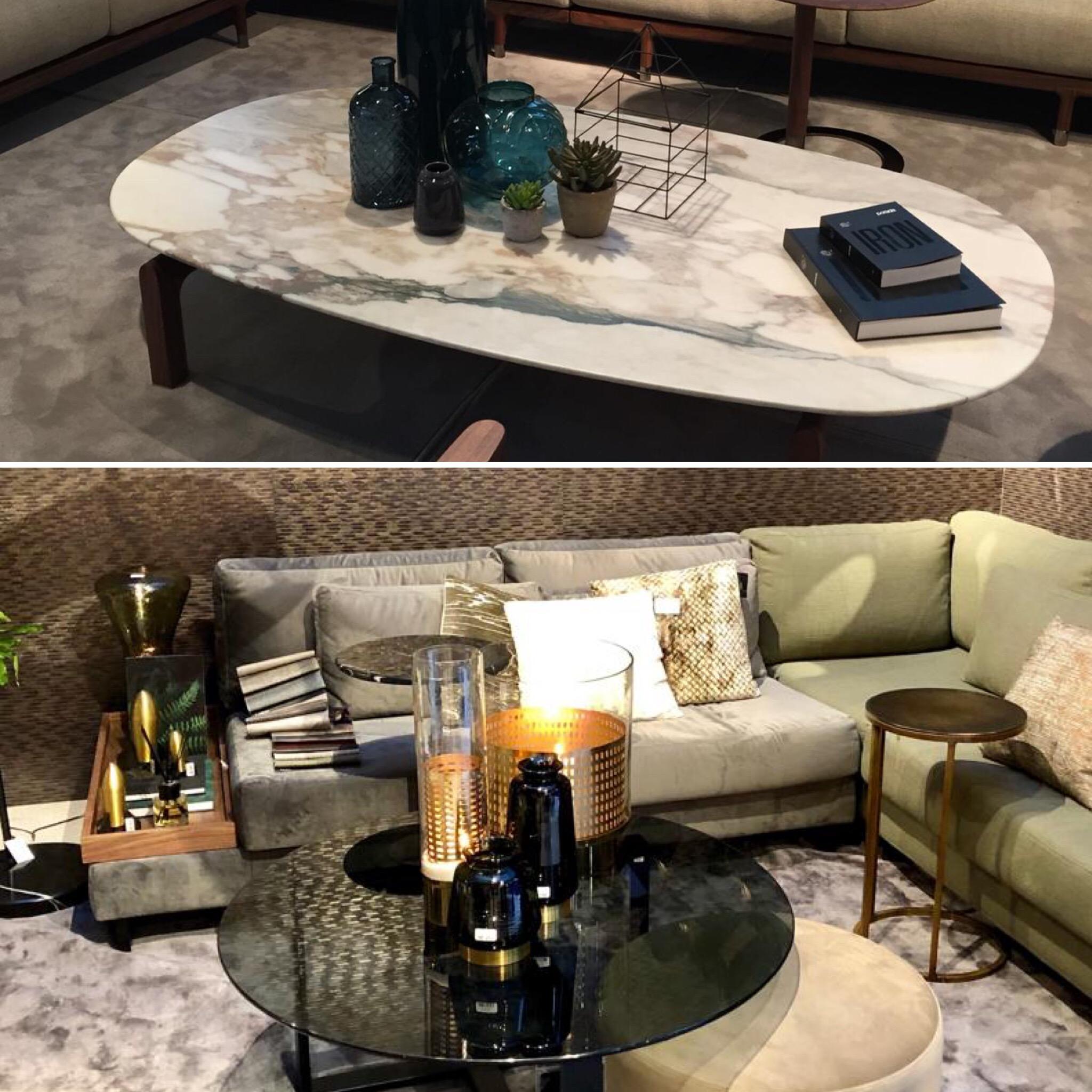 Matériaux tendance 2019: le marbre et le verre teinté