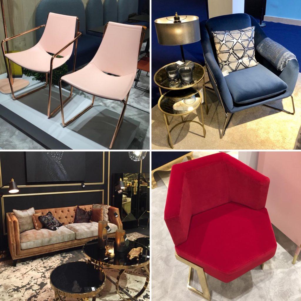 Pieds de chaise ou de table en laiton ou métal doré